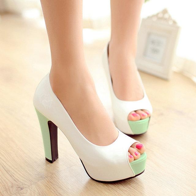 2015 new spring autumn fashion ladies women shoes woman platform pumps sexy high heels party open toe sandals