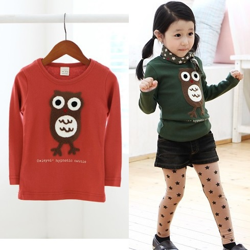 girls t-shirts kids tshirts cotton tops outfits girls jumpers owl bottoming tees shirts childrens sweatshirts blouses Z35<br><br>Aliexpress