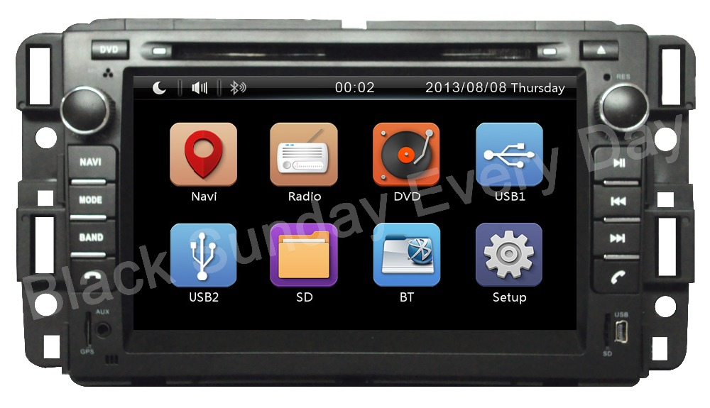 Wholesale!2Din Car dvd player head unit Fit GMC Yukon Acadia Tahoe Enclave CHEVROLET Chevy Suburban 2007- 2012 3G GPS BT RDS SD(China (Mainland))