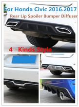 Buy Honda Civic 2016.2017 Rear Lip Spoiler Bumper Diffuser High Matte Black Primer PP ABS Car Accessories 4 kinds Style for $91.00 in AliExpress store