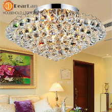 Modern Crystal Ceiling Lamp Stainless Steel  Ceiling Light Foyer Lamp Hotel Hall Lamp Loft Lamp Free Shipping(China (Mainland))