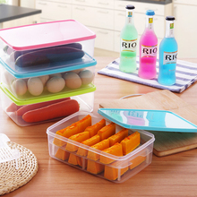 1 PC Drawer Storage Box With Cover Refrigerator Frozen Supply Lek Crisper Tasteless Health Food Container Rectangle Organizer(China (Mainland))