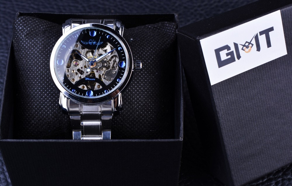 Mechanical Hollow Skeleton Automatic Mechanical Watch Drop Water