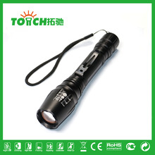 4000 Lumen XM-L T6 LED Zoomable Focus Flashlight Torch Light for 2*18650 battery super bright waterproof LED torch light 8066(China (Mainland))