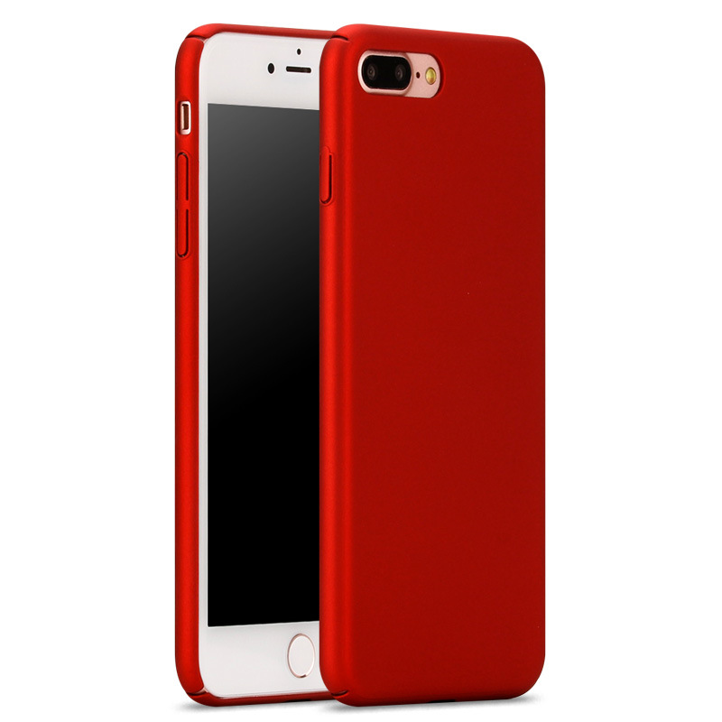 For iPhone 6 Case Fashion Rubberized Matte Frosted Plastic Case For iPhone 7 7 Plus Cover Cell Phone Cases(China (Mainland))