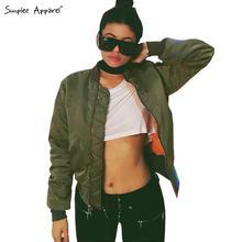 Winter parkas Army Green bomber jacket Women coat cool basic down jacket Padded zipper chaquetas biker outwear(China (Mainland))