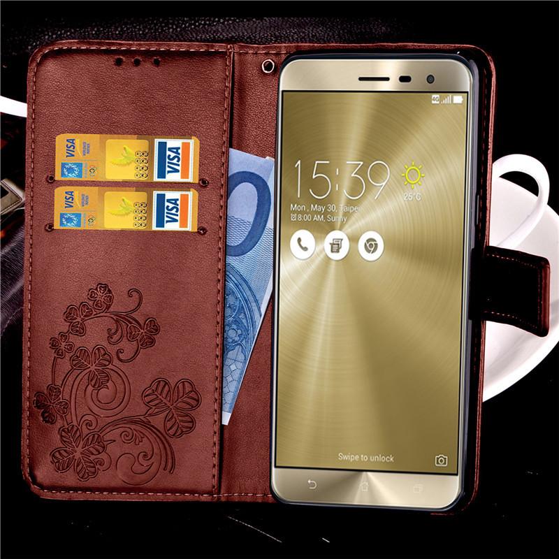 Butterfly Leather Phone Case Asus Zenfone 2 ZE551ML 5.5 inch Laser ZE500KL 5.0 ZE552KL Back Cover Flip Shell Wallet Stand  -  ZiHe Technology Trading (HK store Co.,Ltd )