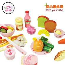 New Arrival Free Shipping Yuki Western Dinner Honestly See Boxed Sets Of Wooden Educational Toys Gift(China (Mainland))