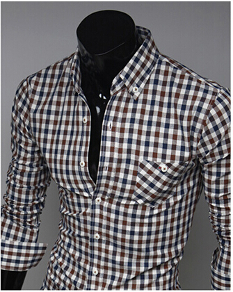Mens White Checked Shirt | Artee Shirt