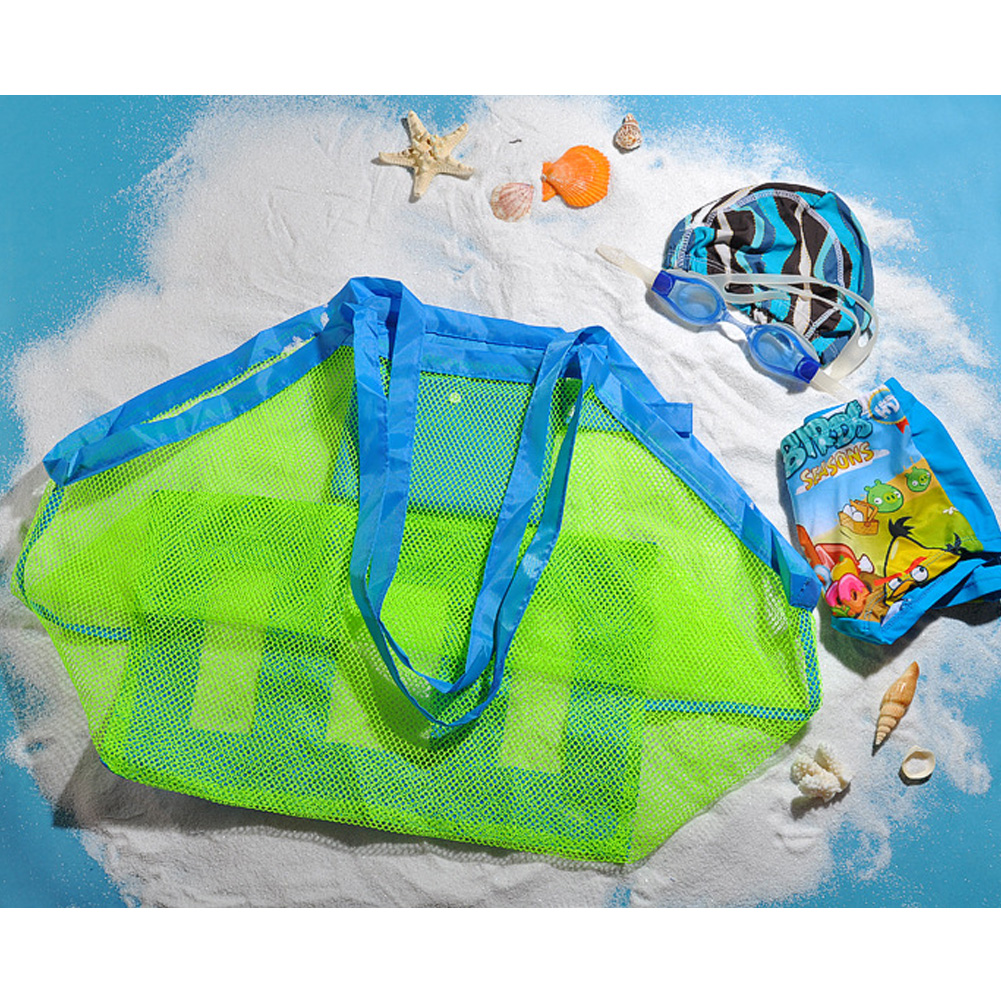 High Quality Children Sand Away Beach Mesh Bag Children Beach Toys Clothes Towel Bag Baby Toy Collection Nappy(China (Mainland))