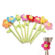 Curtain Clasps Clip Buckle Flexible Curtain Tieback Holdback Holder Cute Cartoon Flower(China (Mainland))