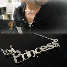 2016 Fashion Princess Model Pendant Elegant Simple Style Letter Necklace Alloy Jewelry for Women(China (Mainland))