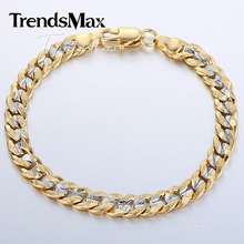 6mm Womens Mens Chain Girls Boys Hammered Cut Round Curb Cuban Silver Yellow Gold Filled GF Personalized Bracelet GB292(Hong Kong)