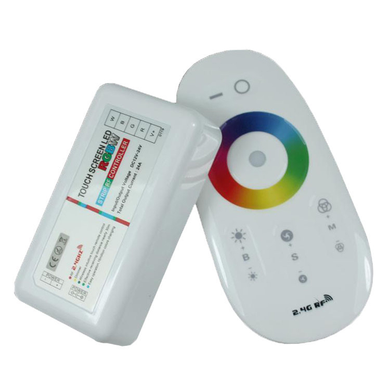 2.4G Wireless touch screen RGB remote control,DC12-24A 18A RF remote control for led strip bulb downlight,dimmable Controller(China (Mainland))
