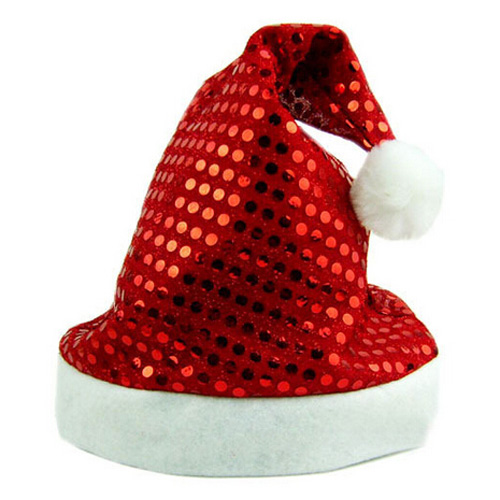 MEOF Hot Deluxe Sequin Santa Hat Outfit Accessory for Christmas Nativity Fancy Dress(China (Mainland))