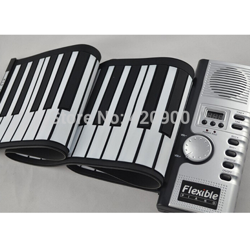 Portable 61 Keys Flexible Roll Up Electronic Piano Soft Keyboard Midi Digital Organ Synthesizer(China (Mainland))