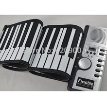 Portable 61 Keys Flexible Roll Up Electronic Piano Soft Keyboard Midi Digital Organ Synthesizer(China (Mainland))