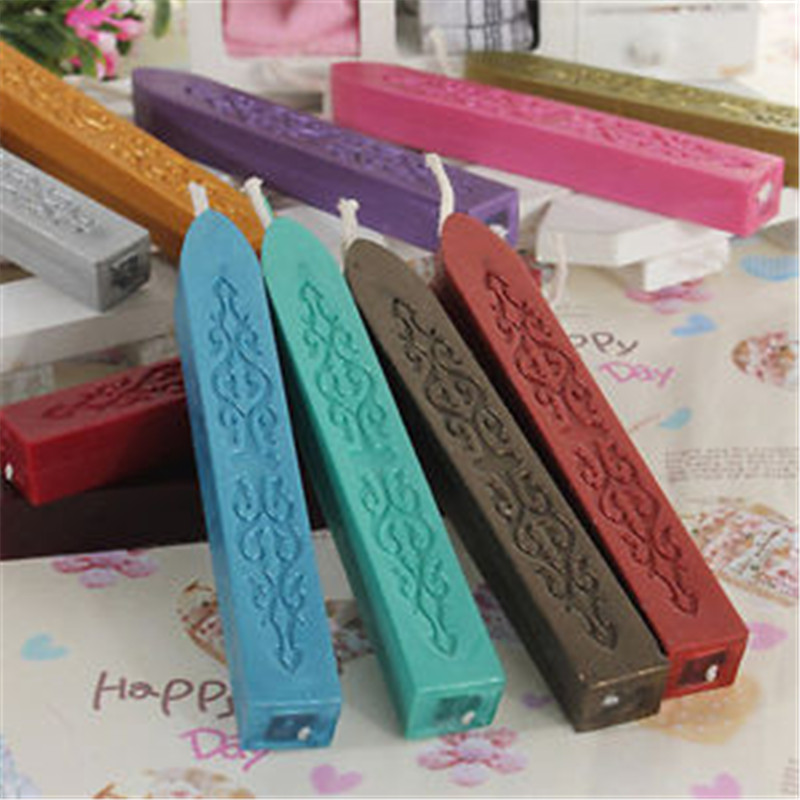 Multicolor Sealing Wax Stick Stamp Wax Strips Branding Paint Stamp Wax For Documents Sealing
