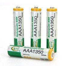 4* BTY AAA 1350 Rechargeable Ni-MH Battery for Wireless mouse RC Toys Camera