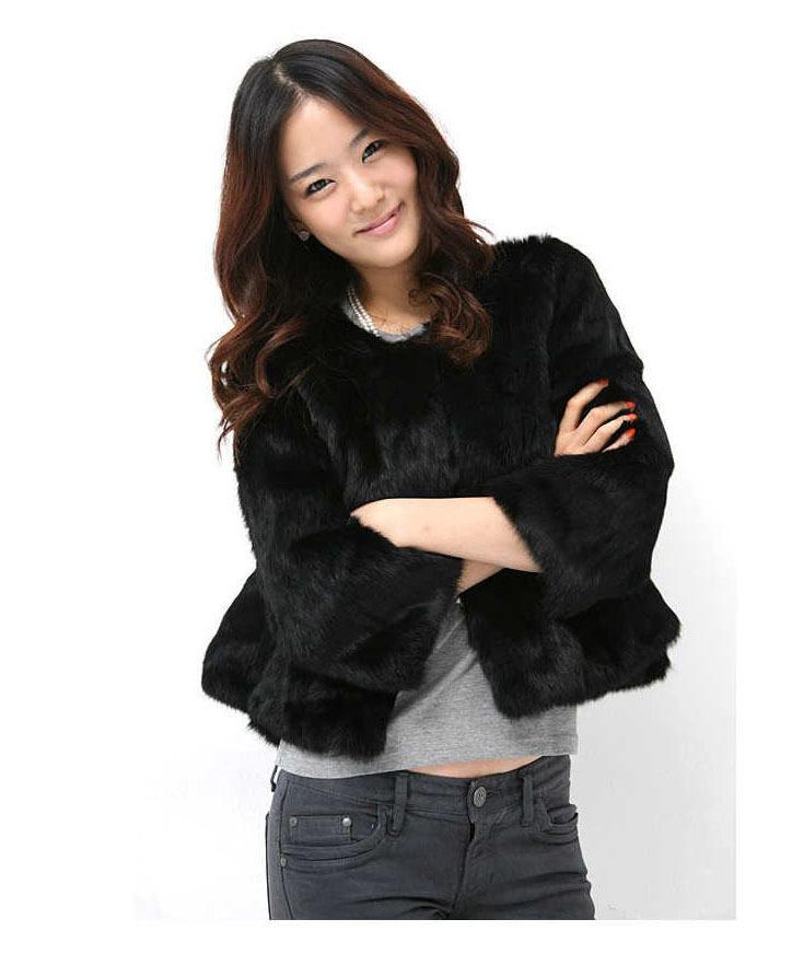 Free shipping real natural genuine rex rabbit fur coat women luxurious natural fur font b jacket