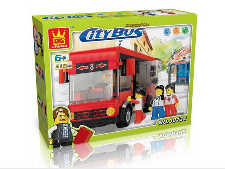 1 Box 318pcs City Bus series 30132 Action Figures Building Block Toys Compatible With Lego  LR-362<br><br>Aliexpress