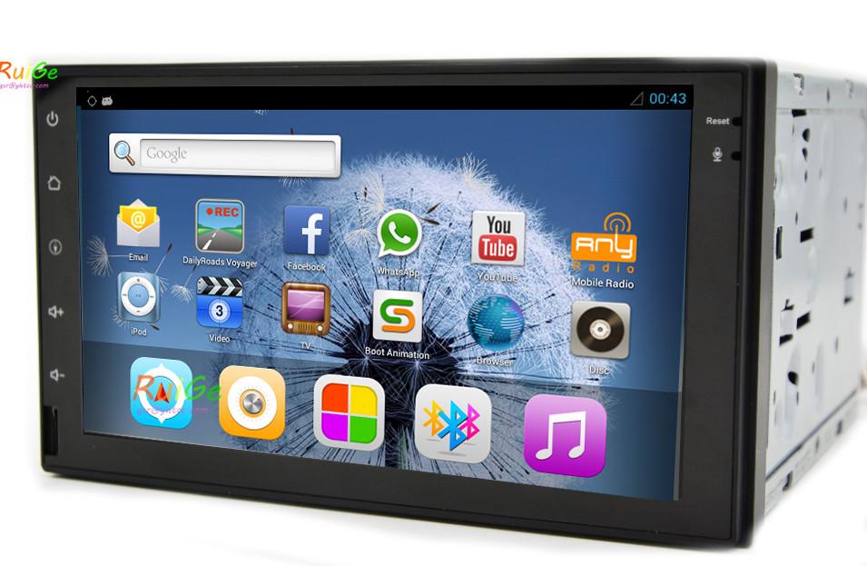 Android4.2.2 core car navigation GB RAM 8GB ROM 2din car radio cd 7inch touch screen 800*480 HD head unit dual BT()