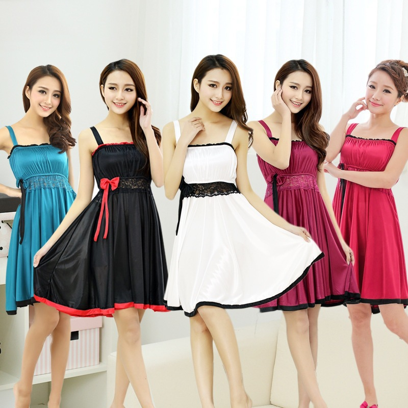 women princess dress sleeveless spaghtti strap bow lace belt decoration party dress cute summer mini dress vestido de festa(China (Mainland))
