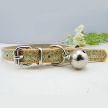 1PC Bling Cat Collar With Bell 1.0cm Width Adjustable Pet Collar For Small Dog(China (Mainland))