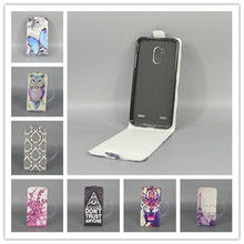 ZTE Blade V7 Lite Back Cover Case (5.0 inch) Hot Pattern Cute PrintingVertical Flip Open Down/up filp leather case - only store