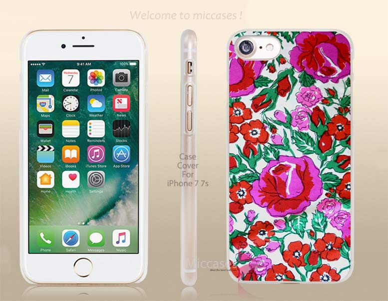 Mexican Pattern Fabric Roes Flower Hard Clear Cell Phone Case Cover for Apple iPhone 6 6s 7 7s Plus(China (Mainland))