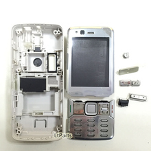 Brand New Full Housing Cover Case For Nokia N82 Housing With Keypads +Buttons Silver Color Free Shipping(China (Mainland))