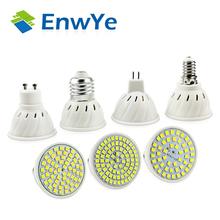 EnwYe E27 E14 MR16 GU5.3 GU10 Lampada LED Bulb 110V 220V Bombillas LED Lamp Spotlight 48 60 80 LED 2835SMD Lampara Spot Light(China (Mainland))