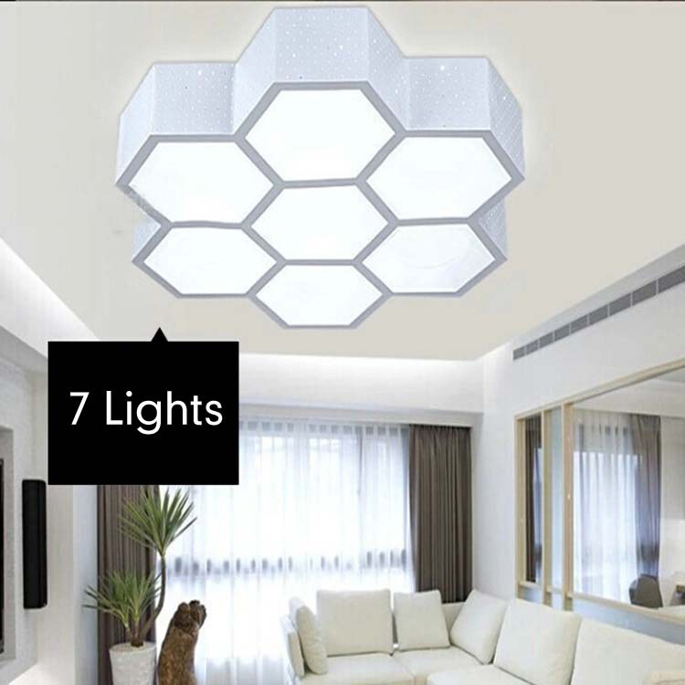 Brief Modern Lighting Hive Iron White Lampshade Acrylic Ceiling Light Fixtures Led Living Room Ceiling Lights<br><br>Aliexpress