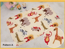 Free Shipping New Arrival Cartoon Animals Pattern Play Mats Multi-Function Blankets Developing Crawling Rug Carpet Toys For Baby