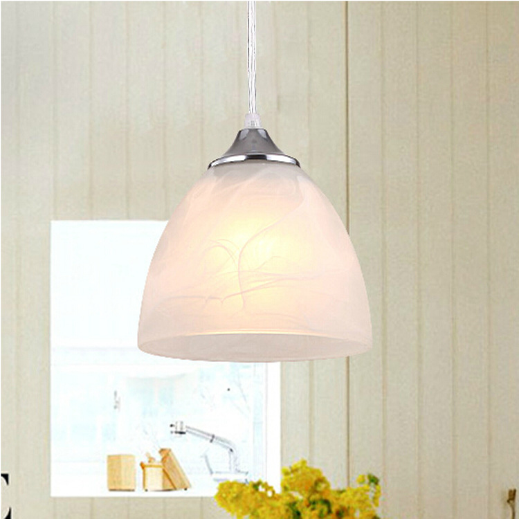 2015 new modern europen 6-10w led chandeliers lighting fixtures galss stone chain single head kitcen living room bedroom lamp(China (Mainland))