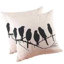 Buy Retro Vintage Throw Home Decorative Pillow Case Cotton Linen Leaning Cushion Pillow Cover Bird Pattern 45*45cm for $2.55 in AliExpress store