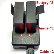 SJCAM SJ4000 SJ5000 SJ6000 Accessories 1050 MA Battery *2+Charger +USB Cable For SJ4000 SJ5000 SJ6000 M10 Sports Camera(China (Mainland))