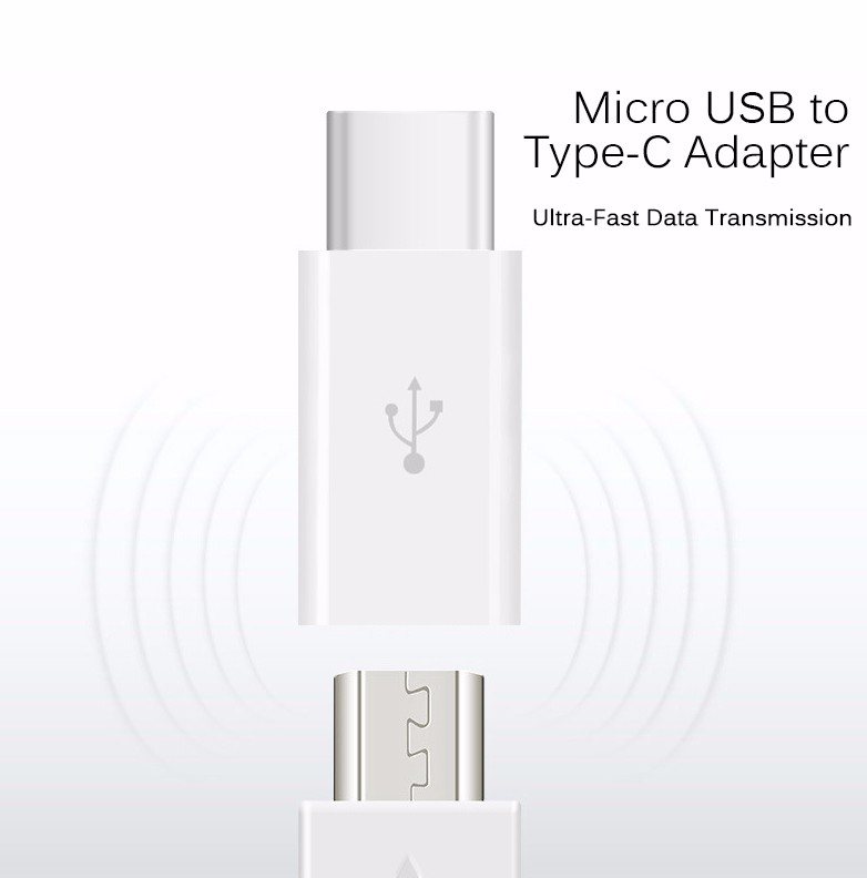Aokin OTG Micro USB Female to Type C Male Type-C Cable Adapter Charger Data Sync USB-C Converter for Android Smart Phone Macbook
