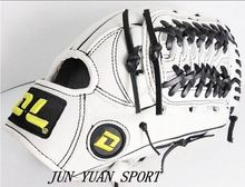 Hot ! Professional 100% cowhide leather White Adult all12.5 inch softball glove and baseball glove Leather Outfielder's Gloves(China (Mainland))