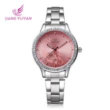Skone de marca relojes mujer vestido acero inoxidable pulsera de reloj de lujo Casual Relogio reloj de cuarzo