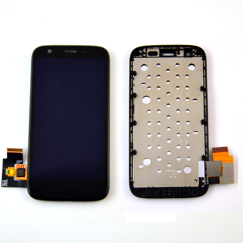 Original For Motorola MOTO G XT1032 / XT1033 LCD Display touch Screen with Digitizer with Bezel Frame Assembly  Black