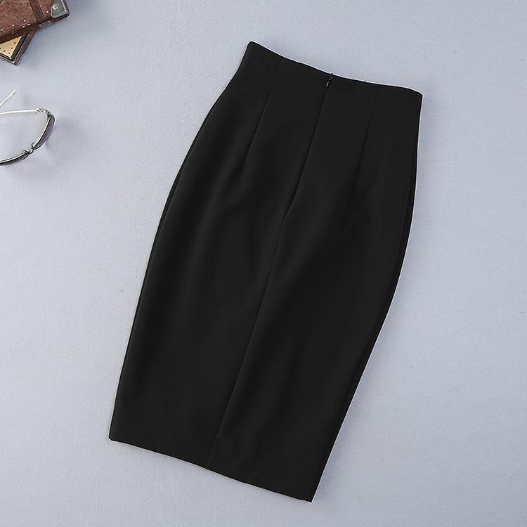 Classic Twinset 2016 New Summer Three Quarter Sleeve Brief Print Shirt+ Black Slim Split Soft Skirt Elegant Women Set