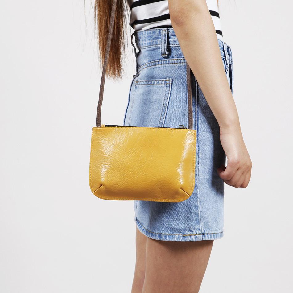 EMMA YAO free shipping women's leather shoulder bag mini messenger bag women's bag korean fashion small bag(China (Mainland))