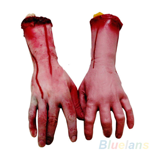 Lifesize Human Arm Hand Bloody Dead Body Parts Haunted House Halloween Prop 271E(China (Mainland))