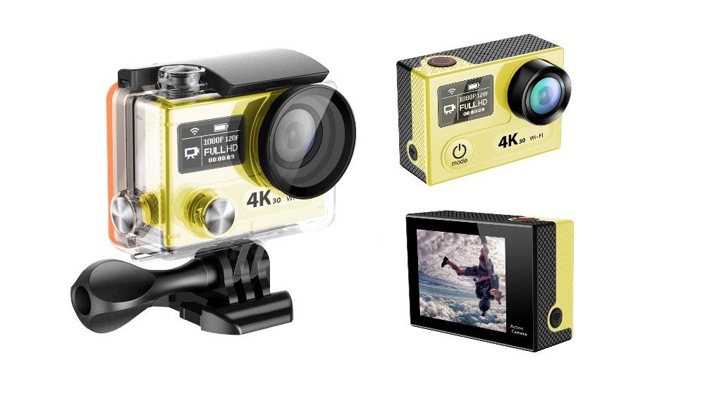 Original Eken Action cam H8 pro waterproof sports DV camera 4k ultra hd Dual Screen DVR Helmet Camcorder sports camera(China (Mainland))