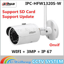 Buy Original Dahua Original Dahua IPC-HFW1320S-W CCTV IP bullet camera 3MP HD 1080P wifi camera for $72.00 in AliExpress store