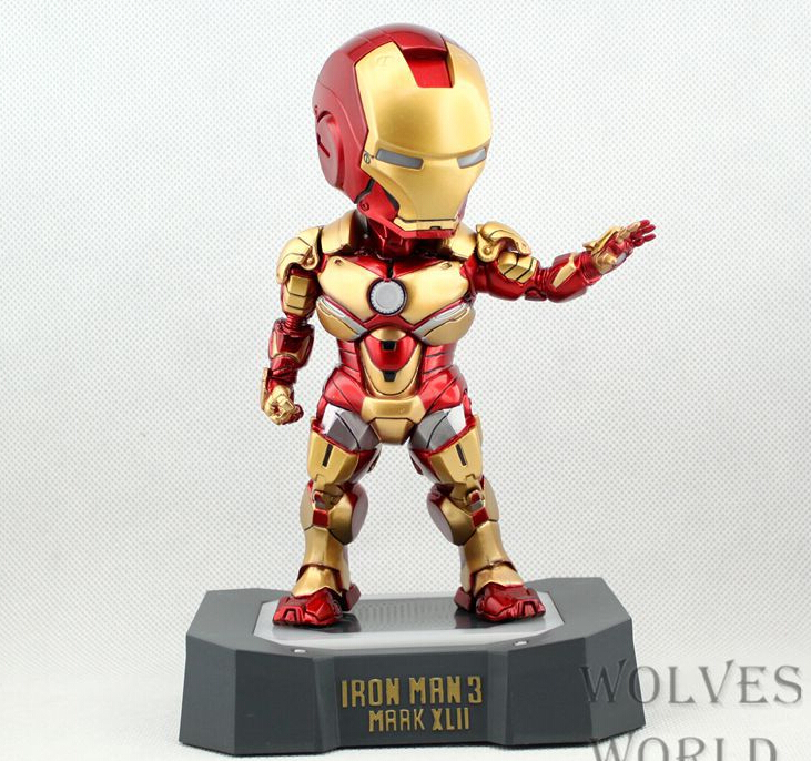 Iron Man 3 Superheroled light 20cm Action Figures PVC brinquedos Collection Figures toys for christmas gift with Retail box<br><br>Aliexpress