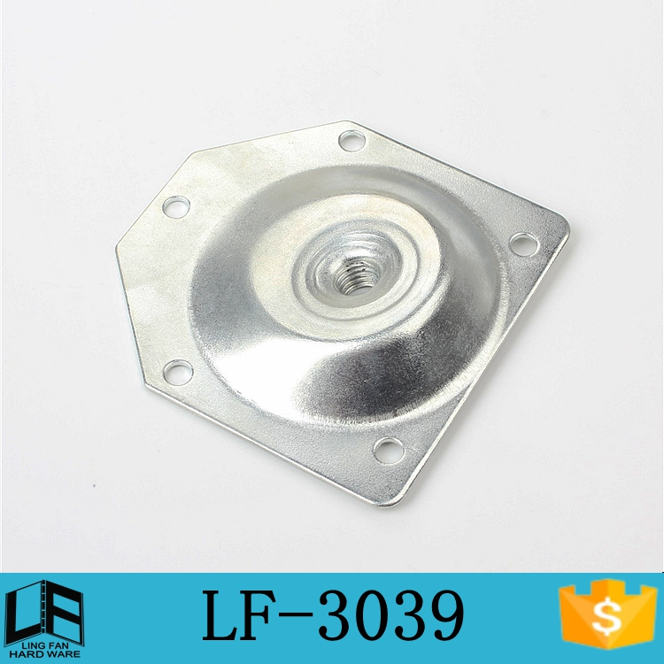 wood furniture leg mounting plate-angle top plate,clinch nut plate LF-3039(China (Mainland))