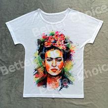 Track Ship+Vintage Retro Good Feeling T-shirt Top Tee Mexico Artist Painter Magdalena Carmen Frida Kahlo 0661(Hong Kong)