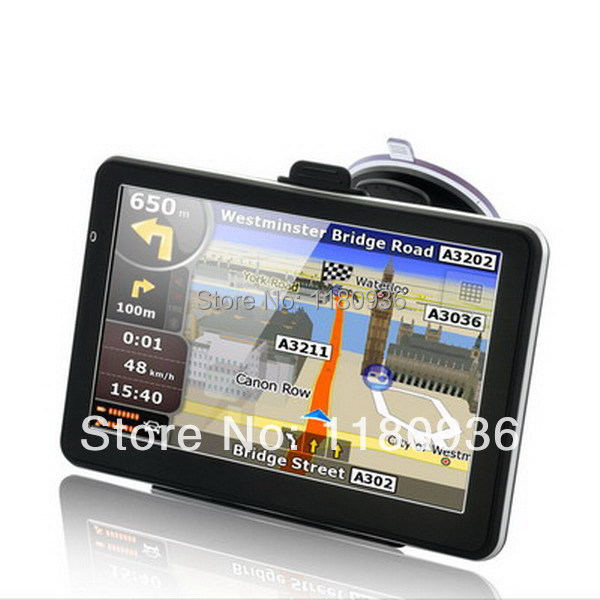 7.0 inch car gps navigator navigation system with mp3 mp4 fm touch screen with metalic housing with map preload(China (Mainland))